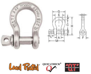 G-209A Alloy Screw Pin Shackles