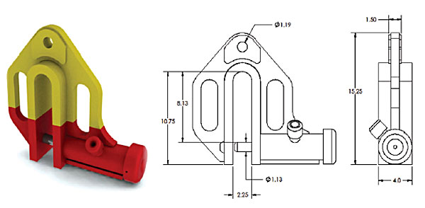 Alloy No. 59A Sheet Pile Shackles / No. 159A Shackle Ground Release