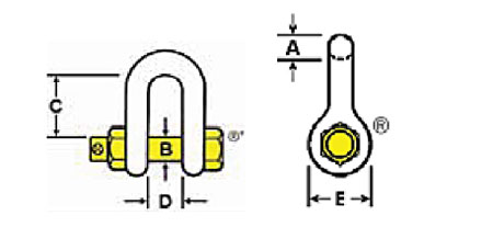 Galvanized Bolt Type Chain Shackles