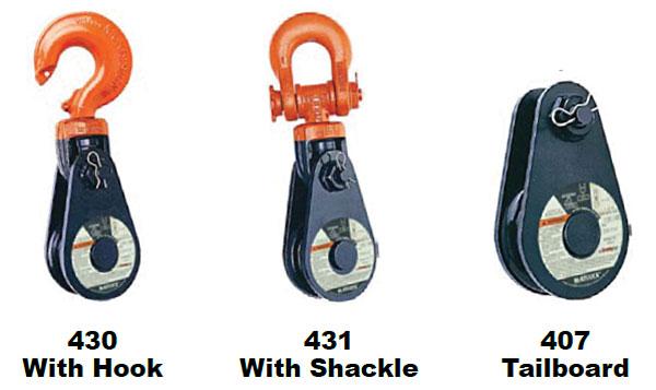 430 / 431 / 407 Snatch Blocks Types