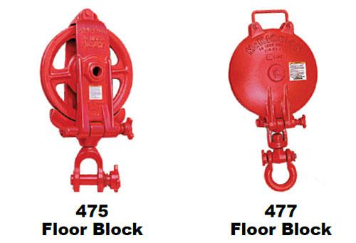 475 / 477 Floor Well Logger's Blocks Types