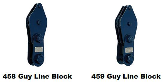 458 / 459 Guy Line Blocks Types