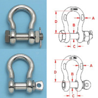 Stainless Steel Shackles—Type 316