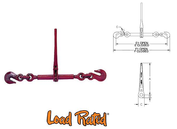 L-140 Standard Ratchet Type Load Binders (Crosby) Diagram