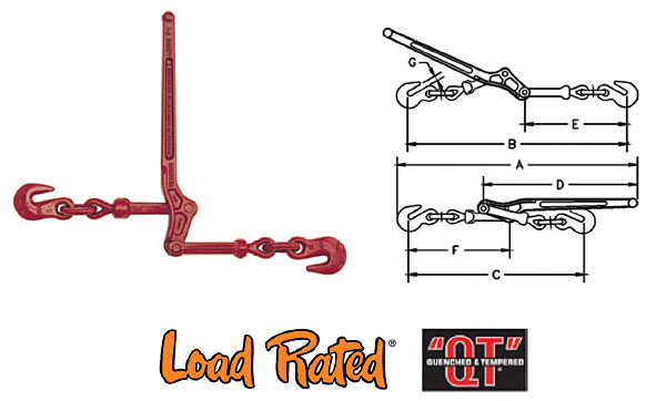 L-150 Standard Lever Type Load Binders Diagram