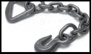 Webbing Attachment Hardware Chain Anchor with Delta Ring, Plated 43366-14