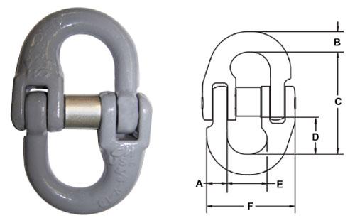 Herc-Alloy 1000 Hammerlok Coupling Link Diagram