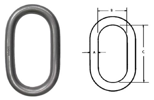 Herc-Alloy 1000 Oblong Master Links Diagram