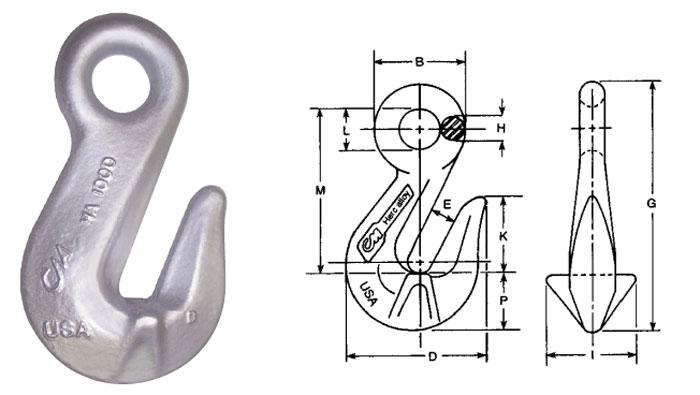 Herc-Alloy 1000 Cradle Grab Hook Diagram