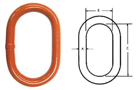 Herc-Alloy 800 Oblong Master Links Diagram