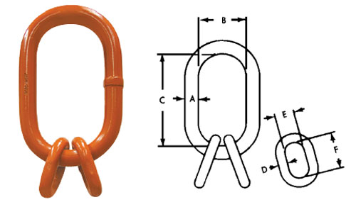 Herc-Alloy 800 Oblong Master Link Sub-Assembly Diagram
