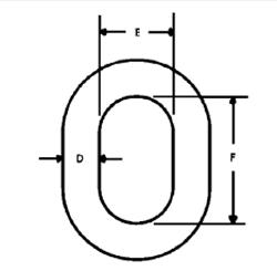 Herc-Alloy 800 Welded Coupling Link Diagram