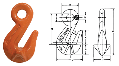 Herc-Alloy 800 Cradle Grab Hook Diagram