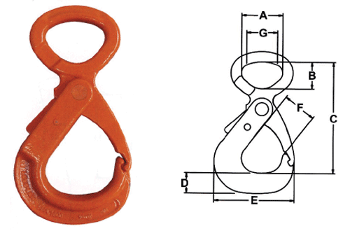 Herc-Alloy 800 Eye Style Lodelok Hook Diagram