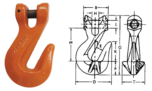Herc-Alloy 800 Clevlok Cradle Grab Hook Diagram