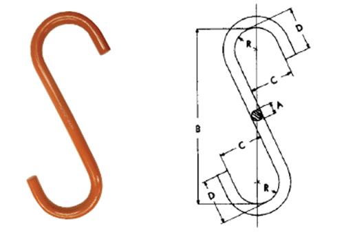 "Herc-Alloy 800 ""S"" Hooks Diagram"
