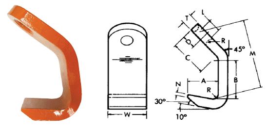 Herc-Alloy 800 Plate Hooks Diagram