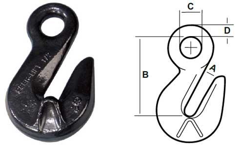 Peer-Lift Eye Cradle Grab Hook Specs Diagram