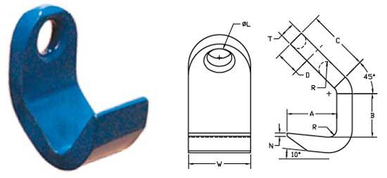 Standard Plate Hooks Diagram