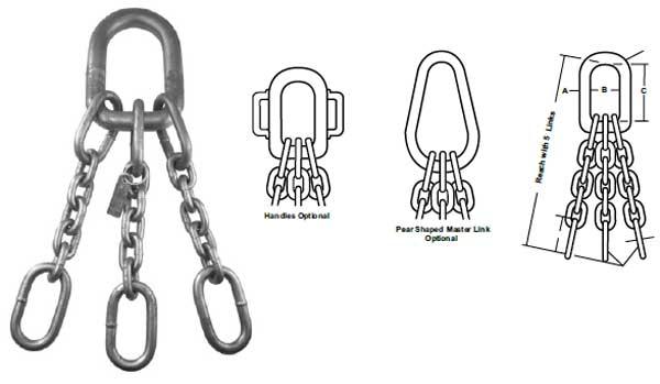 Accoloy® Standard Magnet Chains & Assemblies Diagram