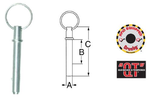 Crosby ELIMINATOR® S-4104N Latch Pin Diagram