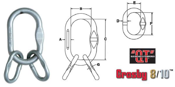 Grade 100 A-1345N Master Link Assembly Diagram