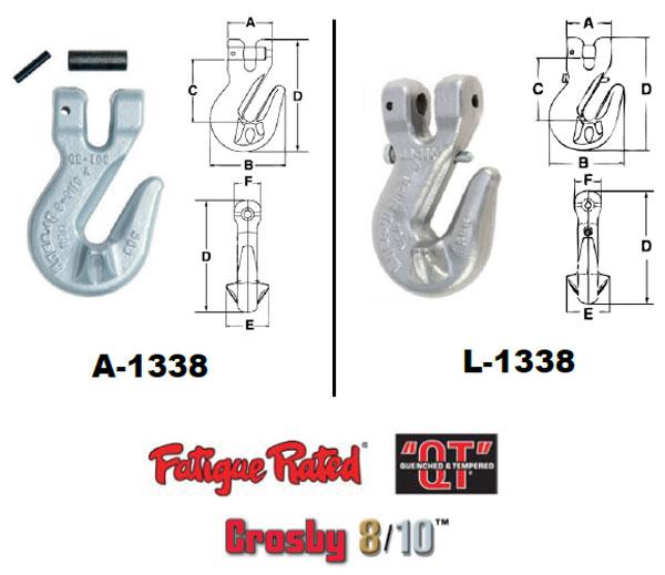 Grade 100 A/L-1338 Cradle Grab Hook Diagram
