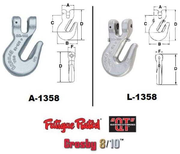 Grade 100 A/L-1358 Grab Hook Diagram