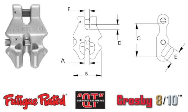 Grade 100 S-1311N Chain Shortener Link Diagram