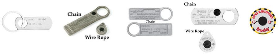 Sling Identification Tag Kits