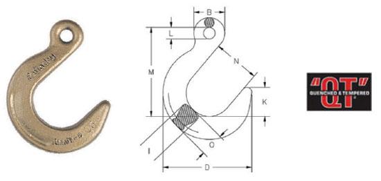 Grade 80 A-329 Eye Foundry Hook Diagram