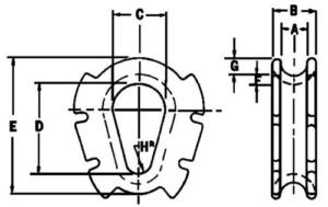 No. 83 Casing Thimbles Diagram