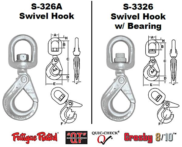 S-326A / S-3326 SHUR-LOC® Swivels Hooks