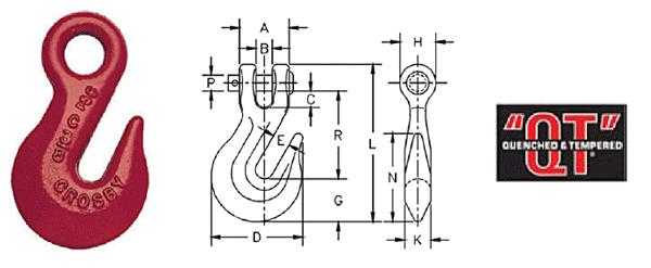 H-323 / A-323 Eye Grab Hooks Diagram