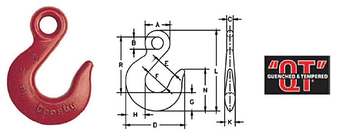 H-324 Eye Slip Hooks Diagram