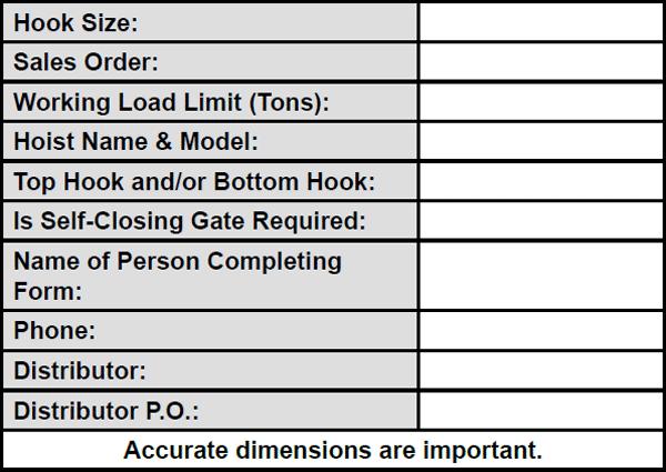 Hook Data Form Specs