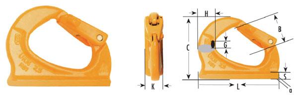Weld-On Excavator Hooks Diagram