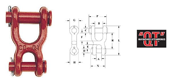 S-247 Double Clevis Link Diagram