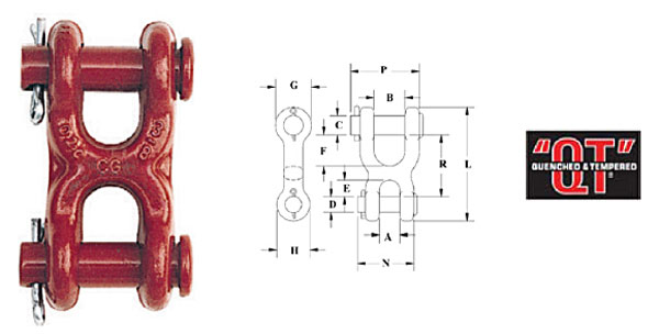 S-249 Twin Clevis Link Diagram
