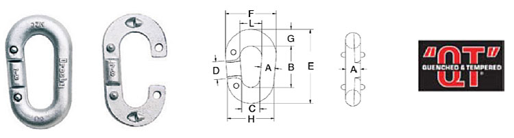 """G-334 / S-334 Pear Shape """"Missing Link""""® Replacement Links Diagram"""