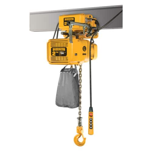 Harrington NERM Electric Chain Hoist Motorized Trolley