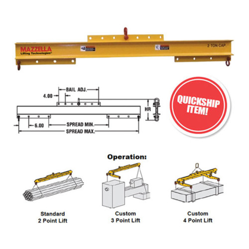 Adjustable Spreader / Lifting Beams (Model 16)