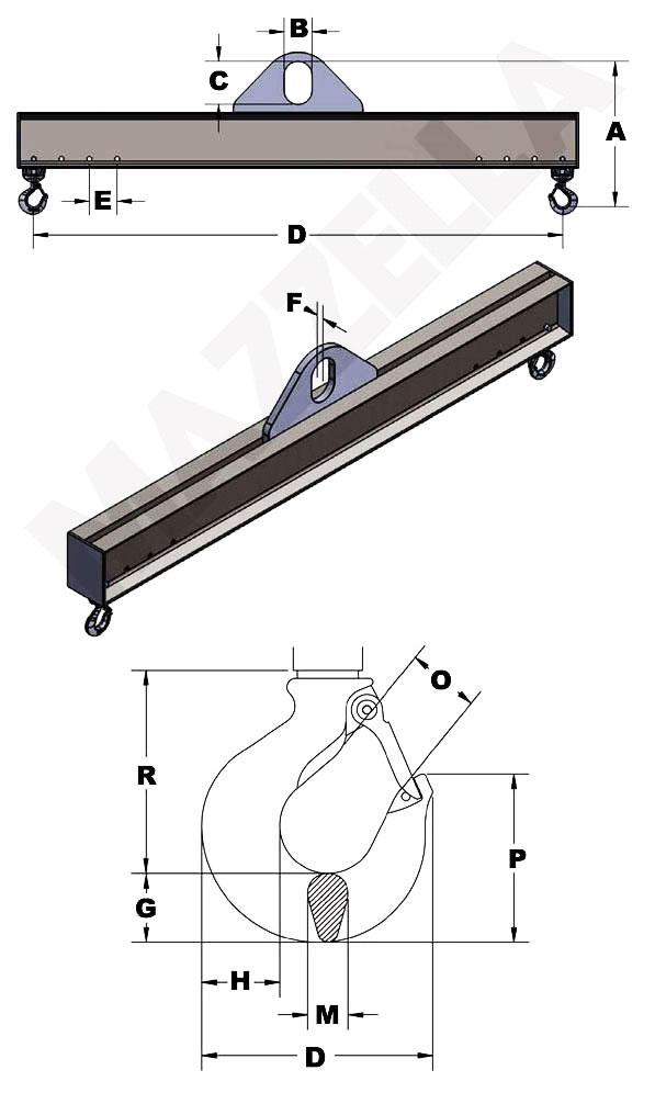 Below-The-Hook Design Sheet: Adjustable Hook Lifting Beam
