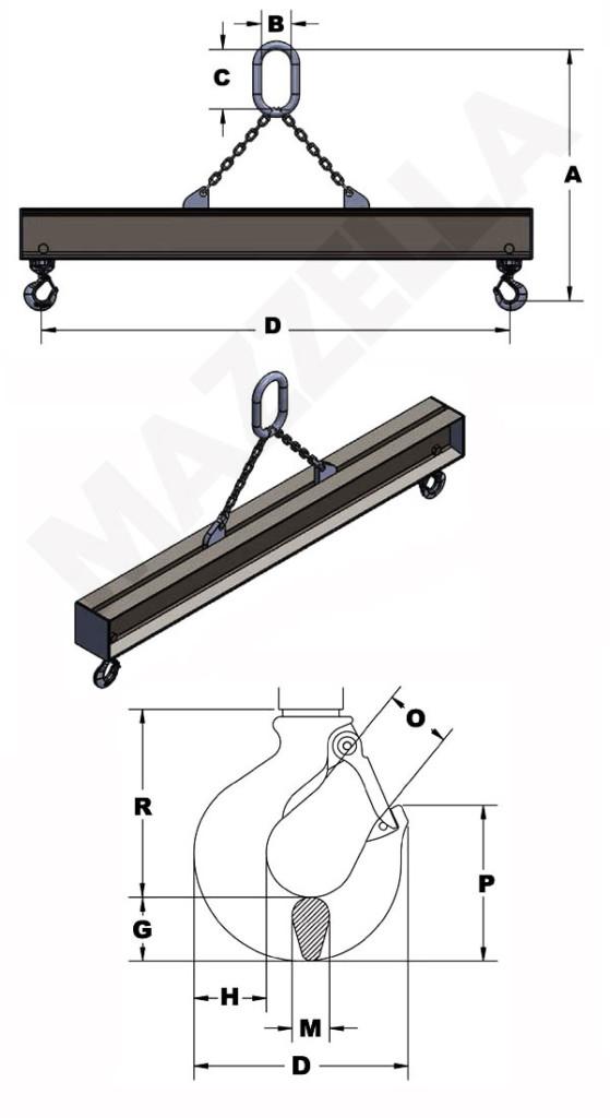 Below-The-Hook Design Sheet: Fixed Hook Beam