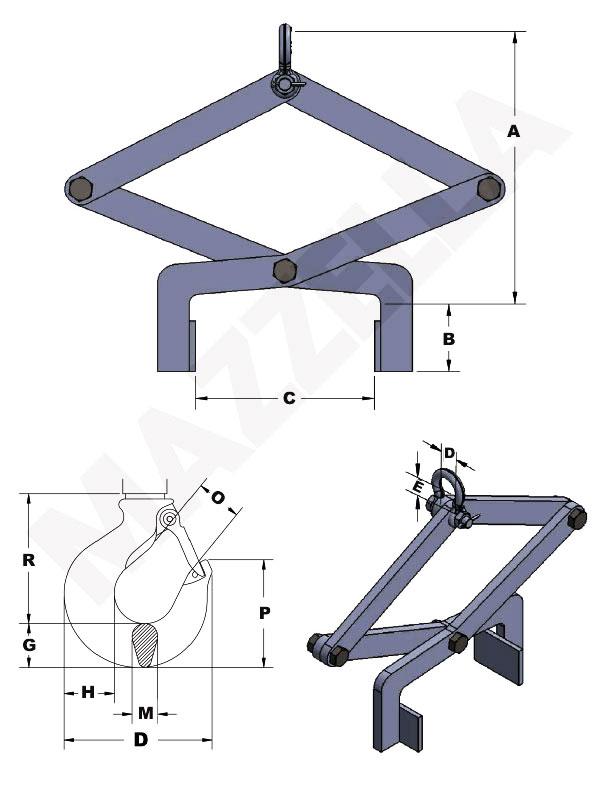 Below-The-Hook Design Sheet: Pressure-Style Lifting Tong