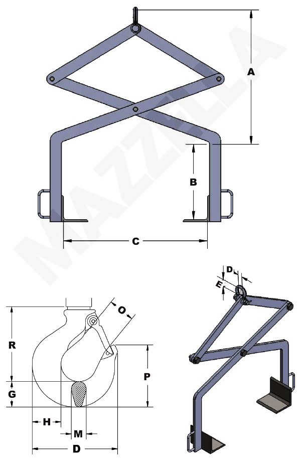 Below-The-Hook Design Sheet: Supporting Style Lifting Tong