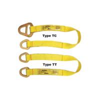 Nylon & Polyester Web Slings: Heavy-Duty Webbing Type TT & Type TC Loop Eye