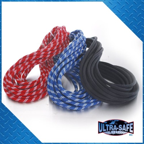 3/8″ x 200′ Rappelling Rope, Blue or Black