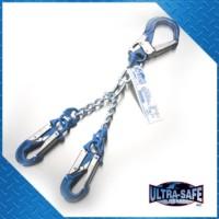 Chain Rebar Assembly – 22″ with Large Aluminum Rebar Hooks