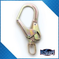 Large Rebar Hook with Swivel, 3,600 lbs Gate, 2 1/4″ Throat, Aluminum